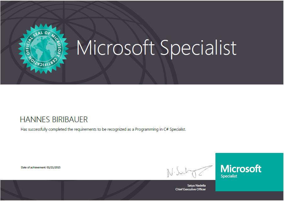 Got My Ms Certificates Universal Windows Platform App Development