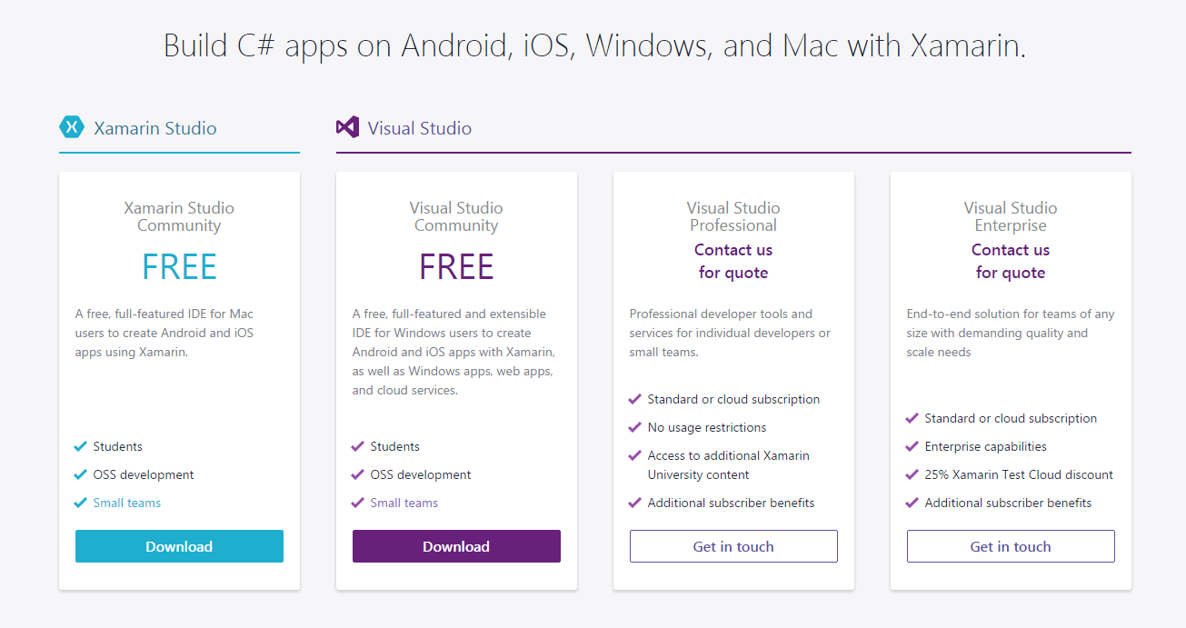 Upgrading Xamarin with an existing Visual Studio Installation