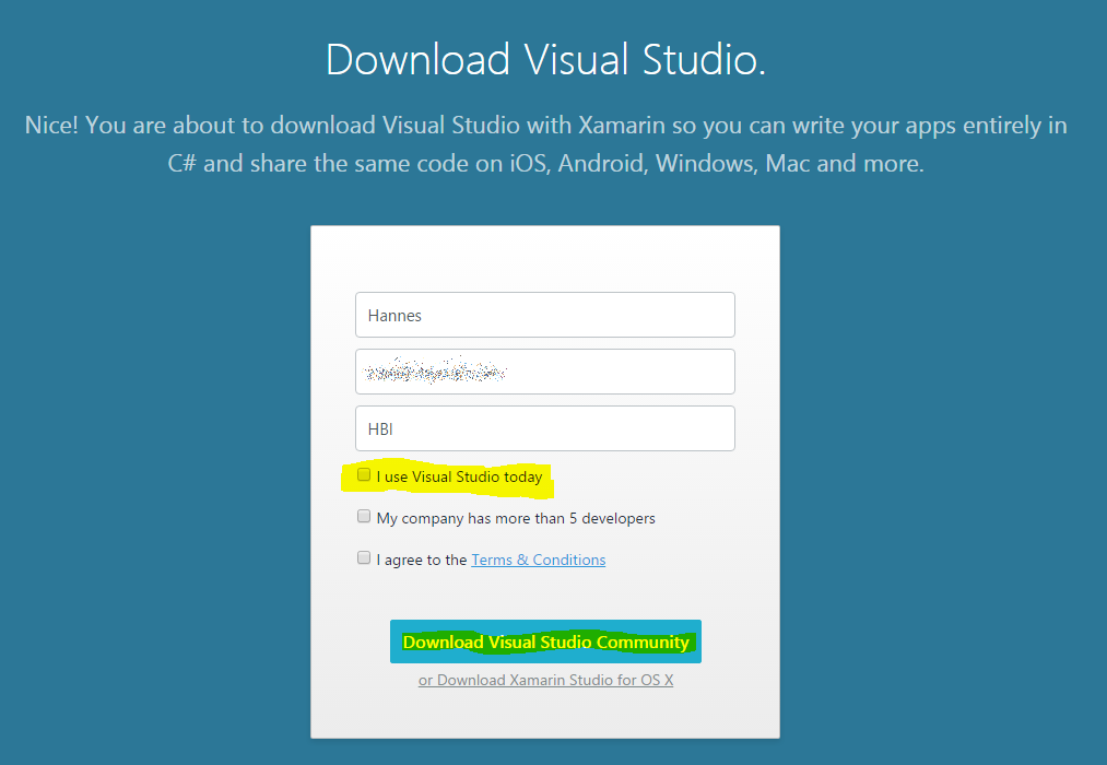 Upgrading Xamarin with an existing Visual Studio